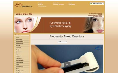 Screenshot of FAQ Page dalemd.com - Daniel Dale, MD | Latisse bimatoprost | ophthalmic solution - captured Feb. 15, 2016