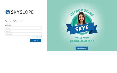 Screenshot of Login Page skyslope.com - SkySlope - Customer Secure Login Page - captured June 14, 2019
