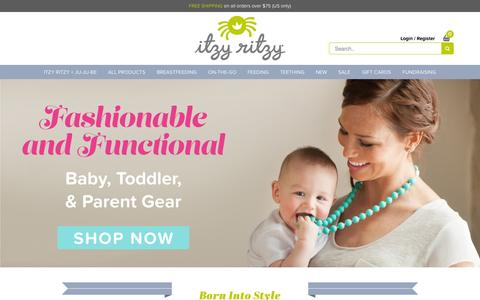 Screenshot of Home Page itzyritzy.com - Itzy Ritzy   Stylish Accessories for Moms and Babies - captured Nov. 10, 2015