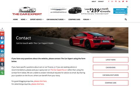 Contact The Car Expert | Blogging about cars and car buying