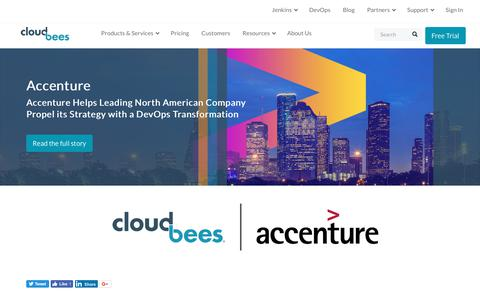 Screenshot of Case Studies Page cloudbees.com - Accenture Helps Leading North American Company Propel its Strategy with a DevOps Transformation | CloudBees - captured Aug. 8, 2018