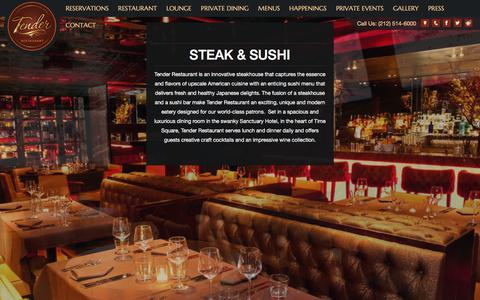 Screenshot of About Page tendernyc.com - Steak & Sushi - Tender Steak & Sushi - captured Oct. 24, 2017