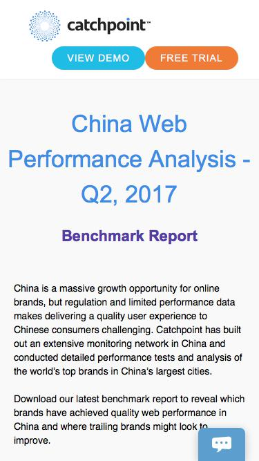 China Web Performance Benchmark Report | Catchpoint
