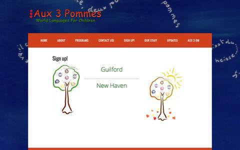 Screenshot of Signup Page aux3pommes.com - Sign up! – Aux3Pommes - captured Feb. 6, 2016