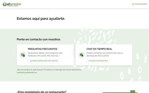 Screenshot of Contact Page eltenedor.es - ElTenedor - captured Feb. 12, 2020