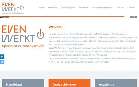 Screenshot of Home Page evenwerkt.nl - Even Werkt! - captured May 21, 2017