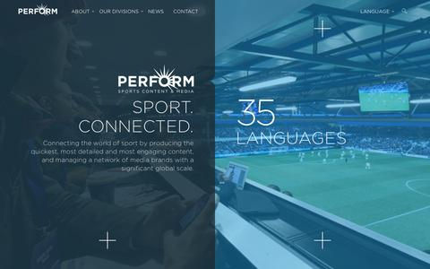 Screenshot of Site Map Page performgroup.com - Sitemap | Perform Group - captured Aug. 22, 2016