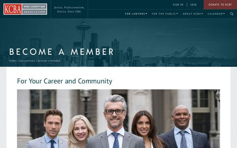 Screenshot of Signup Page kcba.org - Become a Member - captured Oct. 16, 2017