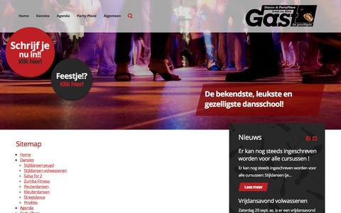 Screenshot of Site Map Page gast.nl - Dance Masters & Party-Place Gast in Vlaardingen - Sitemap - captured Sept. 25, 2018