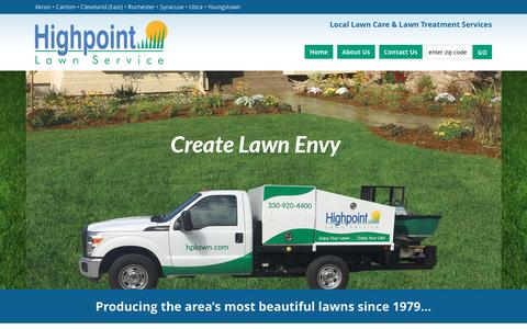 Screenshot of Home Page hplawn.com - Local Lawn Care Services | Lawn Maintenance New York | Lawn Treatment Ohio - captured Nov. 9, 2016