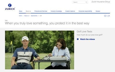 Golf | Sponsorship | about us | Zurich Insurance