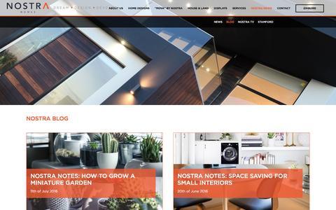 Screenshot of Blog nostrahomes.com.au - Blog | Nostra Homes - The Aspire Estate - captured Dec. 3, 2016
