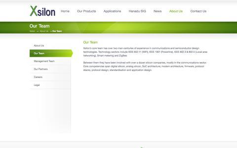 Screenshot of Team Page xsilon.com - Our Team « Xsilon - captured Oct. 27, 2014