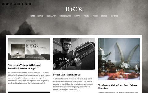 Screenshot of Press Page foscor.com - NEWS – FOSCOR — A Tragic Darkness - captured Feb. 1, 2018