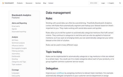 Data management | Brandwatch