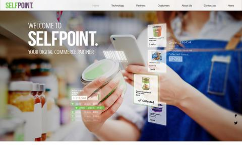 Screenshot of Home Page self-point.com - Self Point Empowering Grocers: E-Commerce, Fulfilment, Delivery & More - captured Dec. 9, 2018