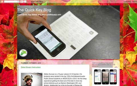 Screenshot of Blog quickkeyapp.com - The Quick Key Blog - captured Oct. 22, 2014