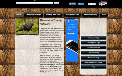Screenshot of Home Page family-outdoors.com - Family-Outdoors Fishing, Hunting, Camping - captured Jan. 8, 2016
