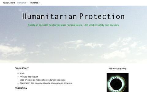 Screenshot of Services Page humanitarianprotection.org - Services   Humanitarian Protection   François PELCRAN - captured Sept. 19, 2017