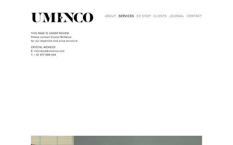 Screenshot of Services Page umenco.com - services — Umenco - captured May 25, 2017