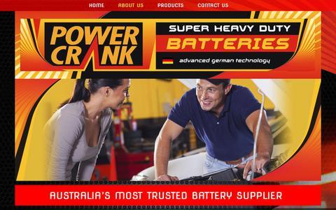 Screenshot of About Page powercrank.com.au - Battery Supplier | Coburg | Power Crank Batteries - captured Sept. 25, 2018