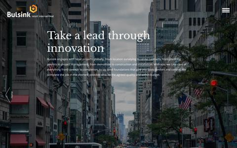 Screenshot of About Page bulsink.nl - About Bulsink Retail International - Take a lead through innovation - captured Oct. 7, 2018