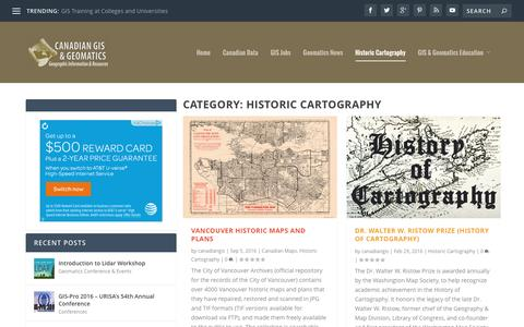 Historic Cartography | Canadian GIS & Geomatics