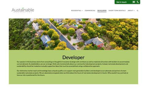 Screenshot of Developers Page austainable.com - Developer | Austainable Properties - captured July 31, 2018