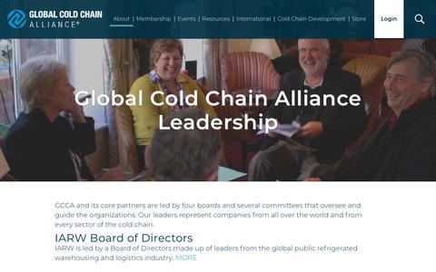 Screenshot of Team Page gcca.org - Global Cold Chain Alliance Leadership | Global Cold Chain Alliance - captured Sept. 28, 2018