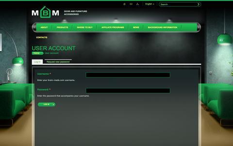 Screenshot of Login Page mvm.ua - User account | brain-made.com - captured Oct. 1, 2014