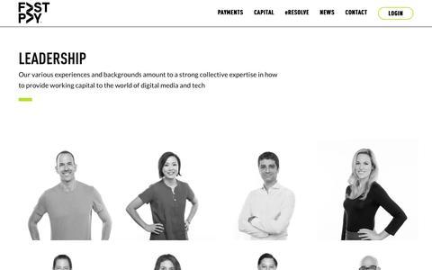 Screenshot of Team Page gofastpay.com - Leadership - FastPay - captured April 26, 2018