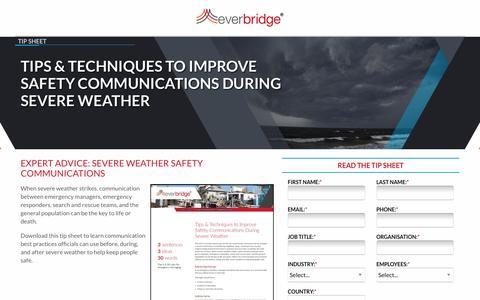 Screenshot of Landing Page everbridge.com captured Sept. 11, 2019