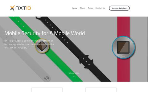 Screenshot of Home Page nxt-id.com - NXT-ID Inc. Mobile Security for a Mobile World - captured Sept. 24, 2018