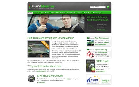Screenshot of Home Page Terms Page driving-monitor.com - DrivingMonitor - Fleet Risk Management, Online Risk Assessments and Interactive Driver Training - captured Sept. 30, 2014