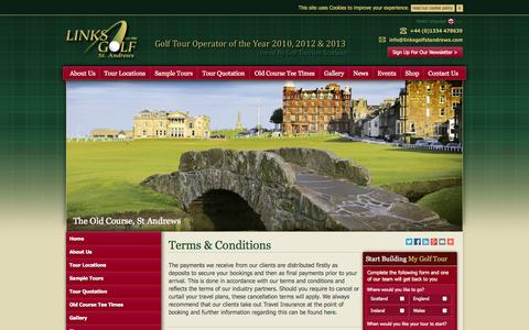 Screenshot of Terms Page linksgolfstandrews.com - Terms & Conditions | Useful Information | Links Golf St Andrews - captured Sept. 30, 2014