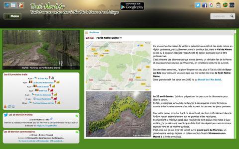Screenshot of Home Page trail-nord.fr - trail-nord.fr - Trail et courses nature dans le Nord de la France et en Belgique - captured June 2, 2016