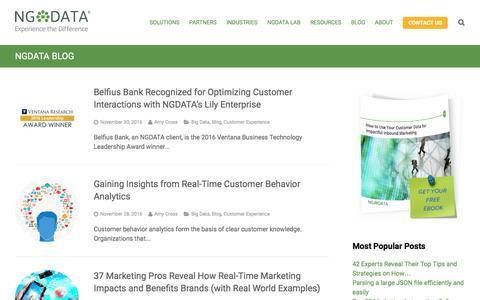 Customer Experience Management Blog - NGDATA