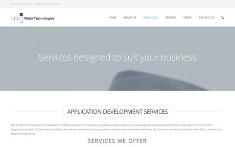 Screenshot of Services Page winjit.com - Customised Mobile Application Development & Digital publishing - captured Oct. 31, 2014