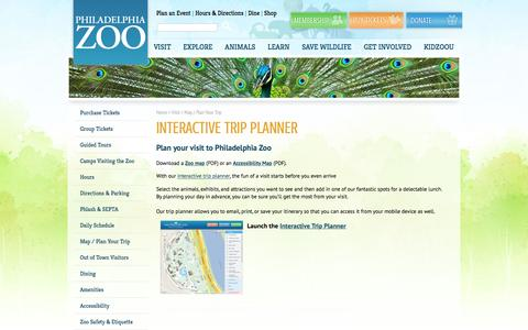 Screenshot of Maps & Directions Page philadelphiazoo.org - Map / Plan Your Trip - Philadelphia Zoo - captured Dec. 8, 2015