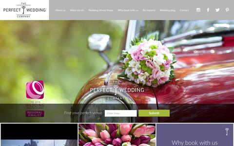 Screenshot of Home Page theperfectweddingcompany.org - The Perfect Wedding Company   Making your dreams come true... - captured Feb. 28, 2016