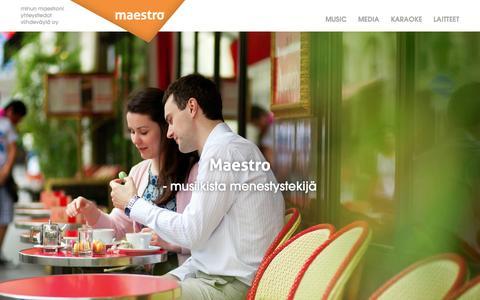 Screenshot of Home Page viihdevayla.fi - Viihdeväylä - captured Oct. 9, 2014