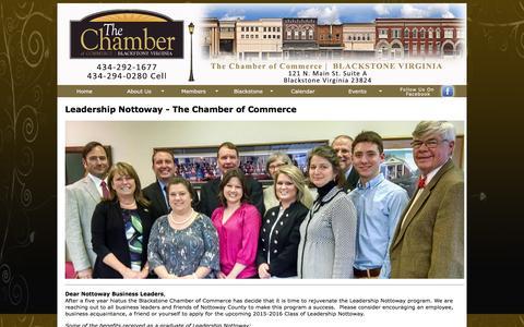 Screenshot of Team Page blackstoneva.com - Blackstone Chamber of Commerce - captured May 25, 2016