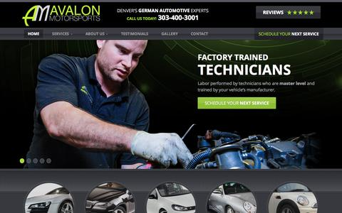 Screenshot of Testimonials Page avalonmotorsports.com - Home - Avalon Motorsports - captured Sept. 30, 2014