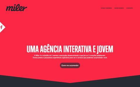 Screenshot of Home Page miler.ai - Miler Agência Interativa - captured Sept. 30, 2014