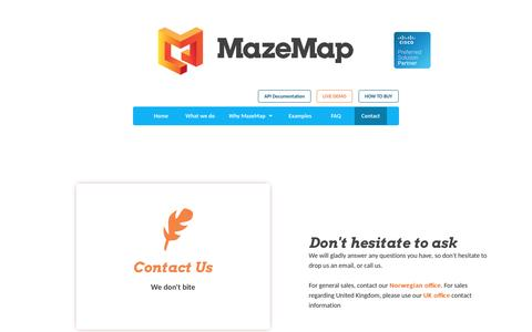 Contact - MazeMap Indoor Maps and Navigation