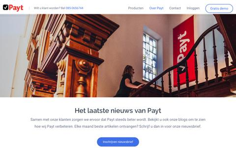 Screenshot of Blog payt.nl - Blog | Payt - Automatiseert het debiteurenbeheer - captured Dec. 7, 2018