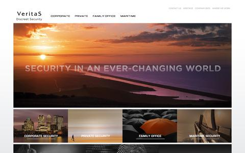 Screenshot of Home Page veritas-international.com - International Security Consultants | Veritas - captured June 12, 2017