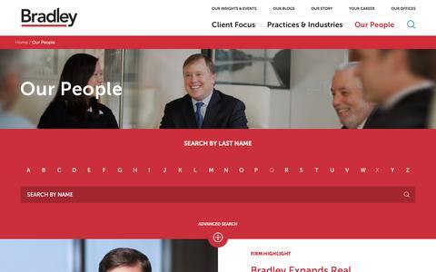 Screenshot of Team Page bradley.com - Our People   Bradley - captured Nov. 7, 2016