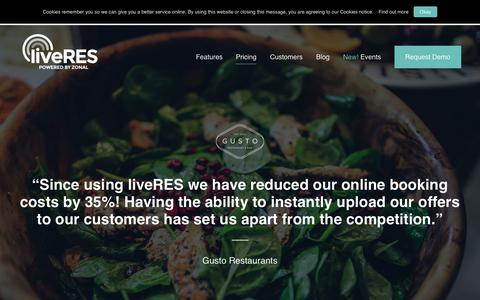 Screenshot of Pricing Page liveres.co.uk - Pricing – liveRES - captured Dec. 16, 2018