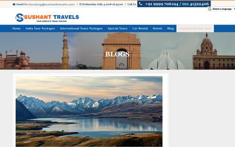Screenshot of Blog sushanttravels.com - Top 10 travel agencies in Delhi | Best travel agent | sushanttravels | - captured July 4, 2018